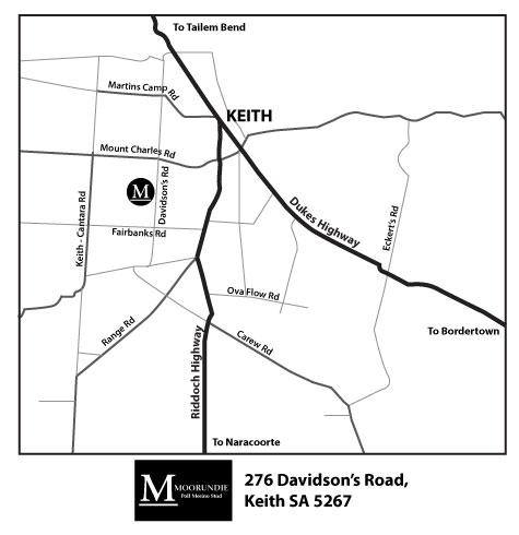 Moorundie Poll Merinos,  276 Davidson's Road,  Keith SA